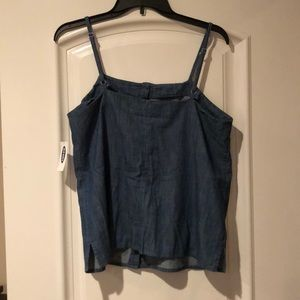 Old Navy Tops - Old Navy Button Front Denim Tank Top